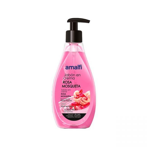 Jabón en Crema Rosa Mosqueta 500ml Amalfi