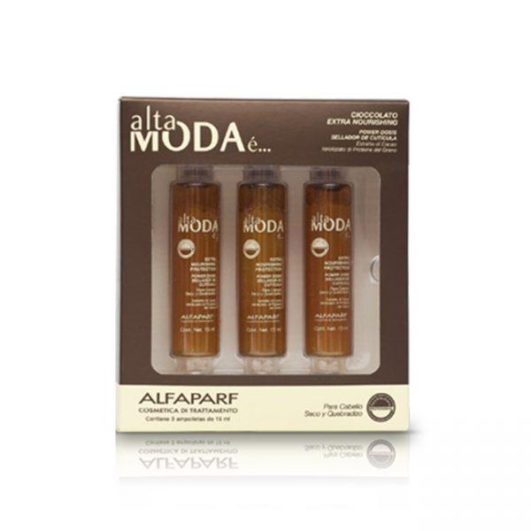 Sellador Cuticula 3 Ampollas 15ml Chocolate Alta Moda Alfaparf