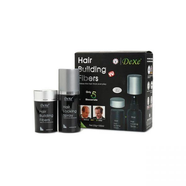 Kit Hair Building Fiber + Spray 22g+100ml Black No.1