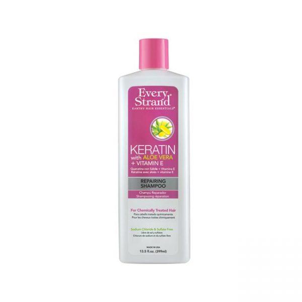 Keratin With Aloe Vera + Vit.E Shampoo 13.5 Fl.Oz/ 399ml