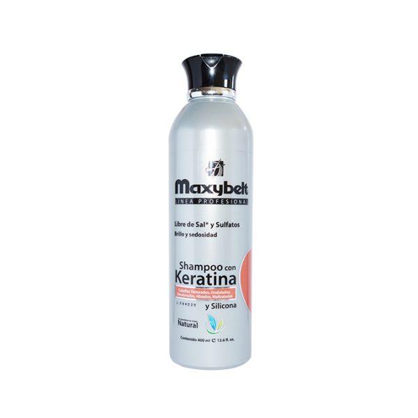 Maxybelt Shampoo Keratina Y Silicona 400 Ml