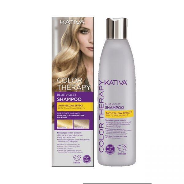 Color Therapy Blue Violet Shampoo Anti-Amarillo 250ml / 8.4oz