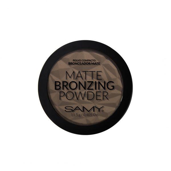 Samy Matte Bronzing Polvo Compacto  Para Contornos  11.5gr
