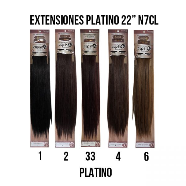Eve Exten Platino N7cl-22 Extensiones Eve Hair