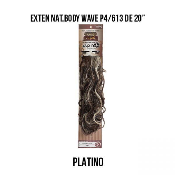"Exten Nat.Body Wave P4/613 De 20"" Extensiones Eve Hair"