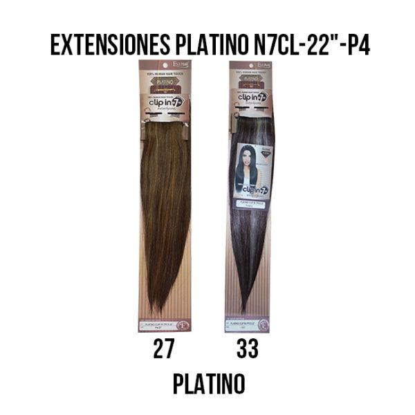 EXTEN PLATINO N7CL-22-P4 #27, 613 Extensiones Eve Hair