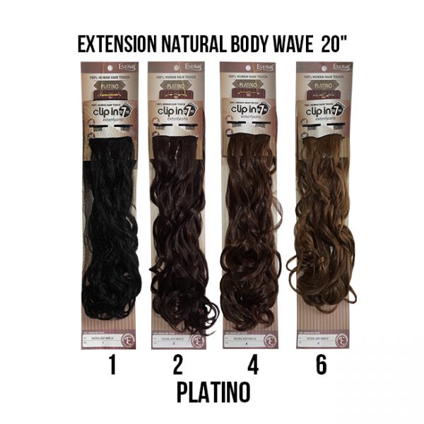 Extension Natural Body Wave  20″ #1,2,4,6 Extensiones Eve Hair
