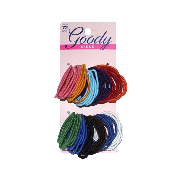 Colas Elasticas delgadas De Cabello Para Dama Goody colores 72 pcs