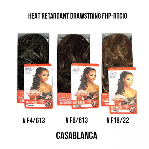 Casablanca Heat Retardant Drawstring Fhp-Rocio #F4, F6, F18 Extensiones Eve Hair