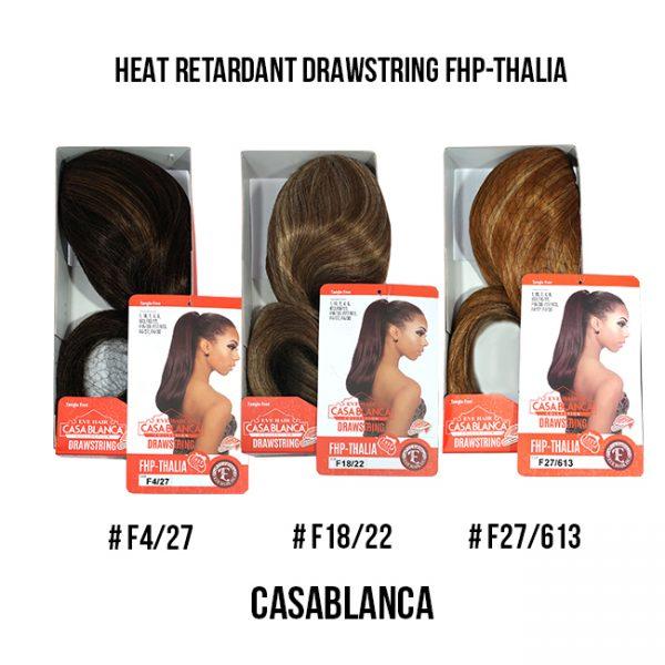 Casablanca Heat Retardant Drawstring Fhp-Thalia # F4, 18, 27 Extensiones Eve Hair