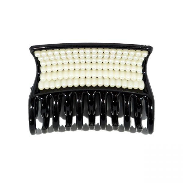 Nb Ganchos Negro Con Perlas