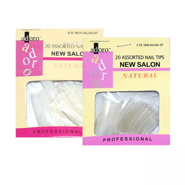 Nb Adoro New Salon Nail Tip Assorted