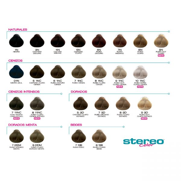 Stereo Carta De Colores Con Mechas 49 Colores