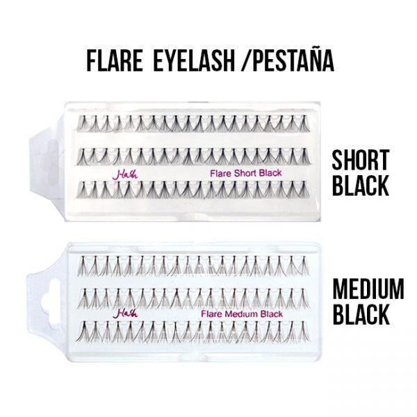 J-Lash Flare M, S , XS, L  Black Pestañas