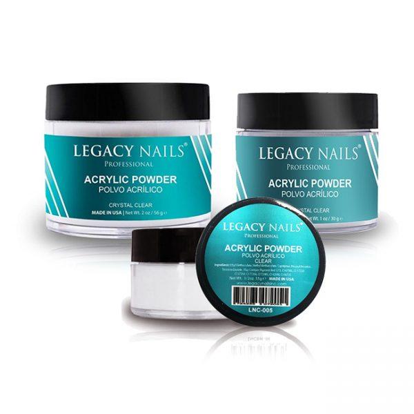 Legacy Nail Clear Polvo Acrilico
