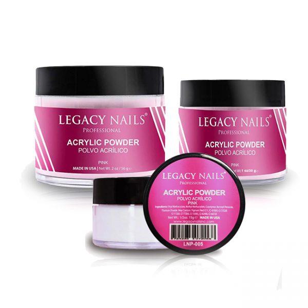 Legacy Nail Pink Polvo Acrilico