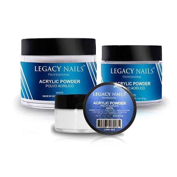 Legacy Nail White Polvo Acrilico